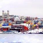 Cartão-Postal de St. John's no inverno